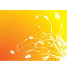 abstract leaf design vector image vector image