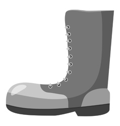 Army boots icon gray monochrome style vector
