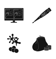 Bank credit medicine and other web icon in black vector