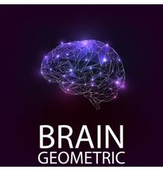 Brain geometric shapes vector