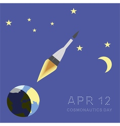 Cosmonautics day vector