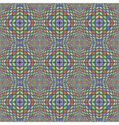 Design seamless warped diamond geometric pattern vector