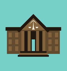Flat icon on stylish background courthouse vector
