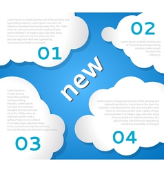 Funny Clouds Background vector image vector image