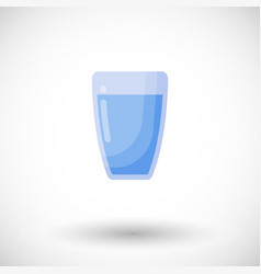 glass of water flat icon vector image vector image