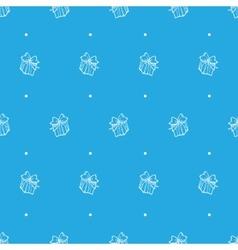 hand drawn gift box seamless pattern vector image
