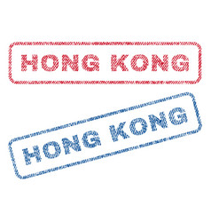 Hong kong textile stamps vector