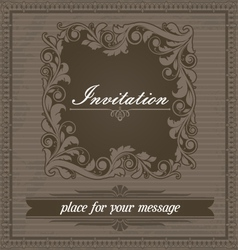 Invitation design template vector image vector image