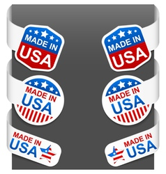 left and right side signs made in usa vector image vector image