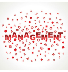 Management word with in alphabets vector image vector image