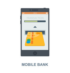 Mobile bank cencept design vector