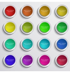 modern colorful circle banners set on gray vector image vector image