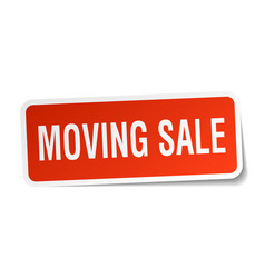 moving sale square sticker on white vector image vector image
