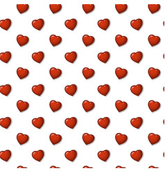 nice background pattern of hearts vector image vector image