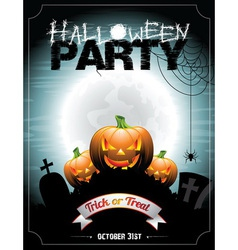 On a halloween party theme vector
