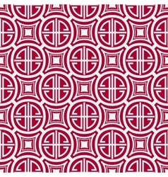 Seamless red pattern with the Chinese symbol of vector image vector image