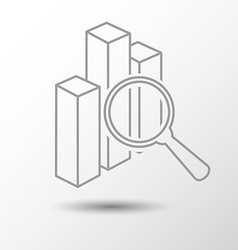 Search stat vector image vector image