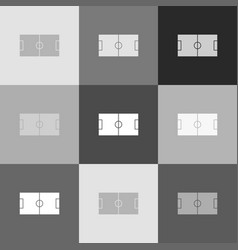 soccer field grayscale version of popart vector image
