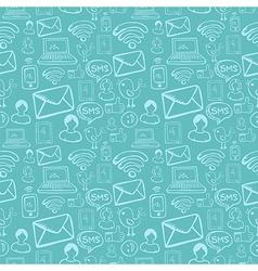 Social media cartoon icons pattern vector image vector image