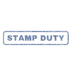 Stamp duty textile stamp vector