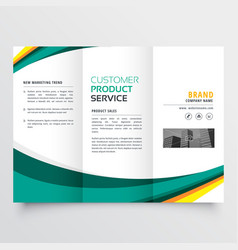 Stylish modern trifold brochure design template vector