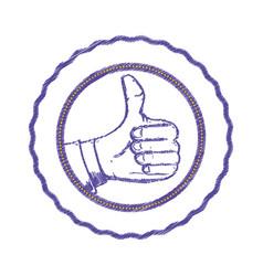 thumb up like vector image vector image