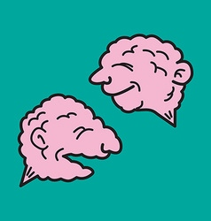 Two brains vector image vector image