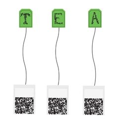 Various teabags vector image vector image