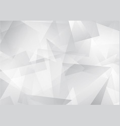 white abstract pattern of geometric shapes vector image