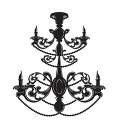 Baroque elegant wall lamp with ornaments vector