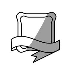 Label emblem ribbon style vector