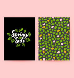 Spring sale trendy poster vector