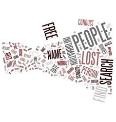 Free find lost people text background word cloud vector