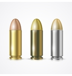Pistol bullet set vector