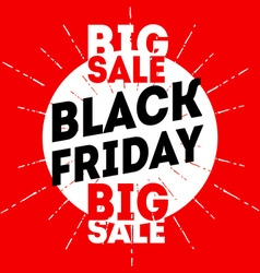 Black friday sale banner on red background vector