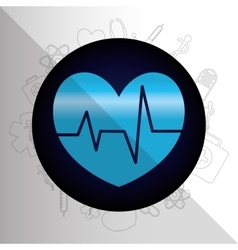 Medical healthcare round icon vector