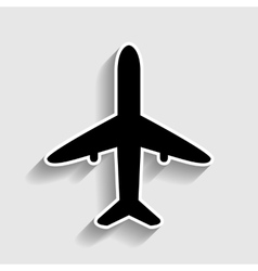 Airplane sign sticker style icon vector