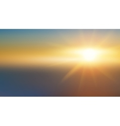 Abstract background - blurred image - sunset vector