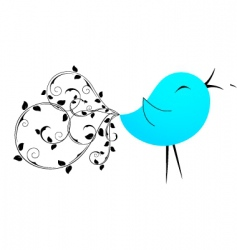 bird blue vector image vector image