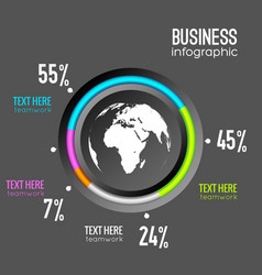 Business infographic chart diagram vector