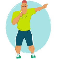 Cartoon sport coach vector