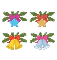 christmas decorations set vector image