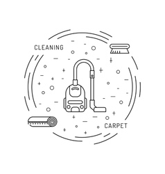Cleaning of carpets vector