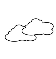 Cloud sky weather natural line vector