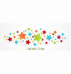 Colorful stars background vector
