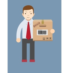 Delivery man vector image vector image