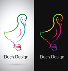Duck design vector image