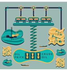 Falling oil prices vector image vector image