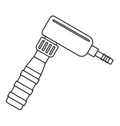 Hand draw rotary tattoo machine icon outline vector