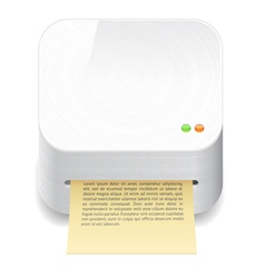 Icon for printer vector image vector image